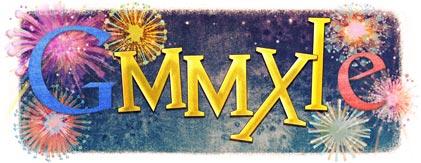 Logo google Bonne année 2011